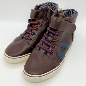 Cat & Jack boys casual sneakers-brown-size 9